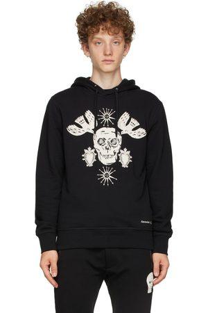 Alexander McQueen Black Embroidered Papercut Skull Hoodie