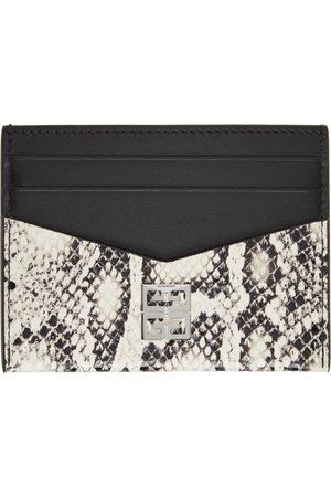 Givenchy Black & Off-White Python Card Holder