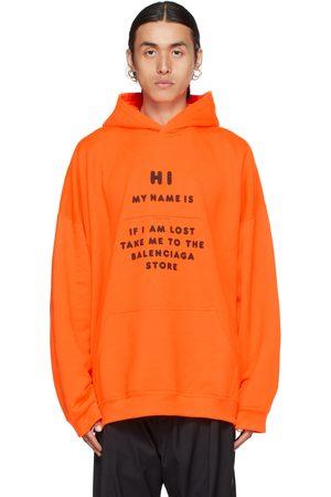 Balenciaga Orange 'Hi My Name Is' Hoodie