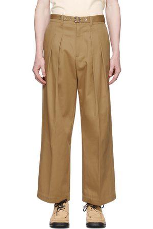 J.W.Anderson Tan Front Pleat Wide Leg Trousers