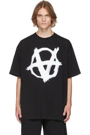 Vetements Men T-shirts - Black Double Anarchy T-Shirt