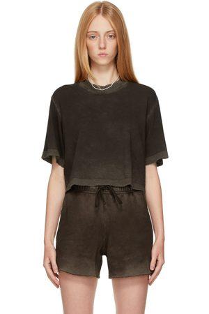 Cotton Citizen Women T-shirts - Brown Tokyo Crop T-Shirt