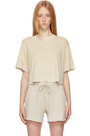 Cotton Citizen Women T-shirts - Beige Tokyo Crop T-Shirt