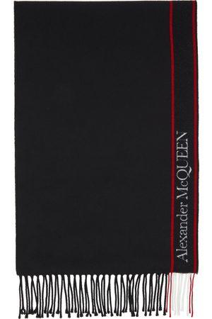 Alexander McQueen Women Scarves - Black Logo Scarf