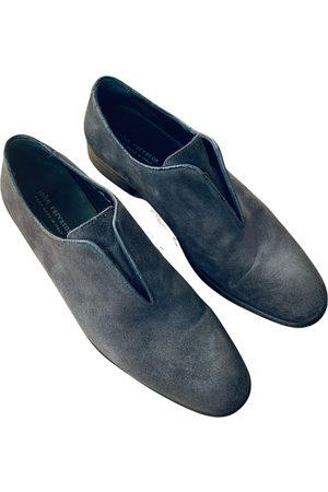 John Varvatos Grey Suede Flats