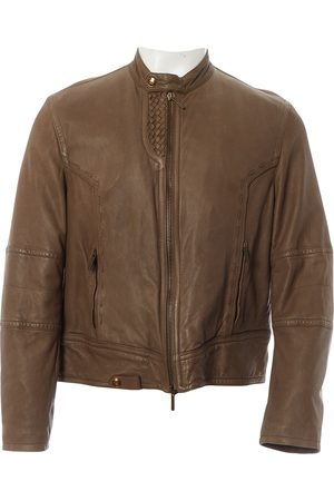 Roberto Cavalli Khaki Leather Jackets