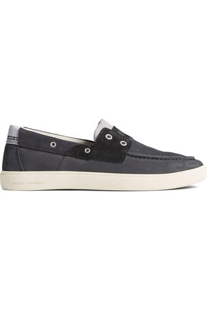 Sperry Top-Sider Men Shoes - Men's Sperry Outer Banks 2-Eye Suede Boat Shoe DarkGrey, Size 7M