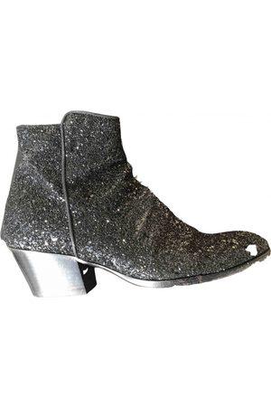 Giuseppe Zanotti Metallic Glitter Ankle Boots