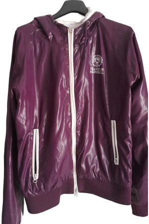 Franklin & Marshall Burgundy Viscose Leather Jackets