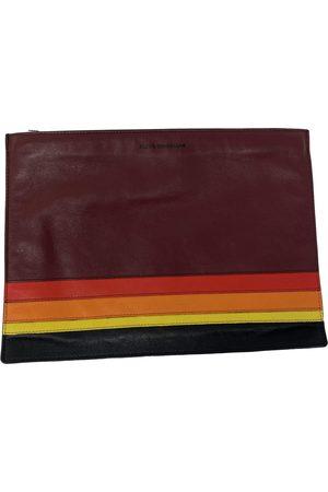 ELENA GHISELLINI Burgundy Leather Clutch Bags