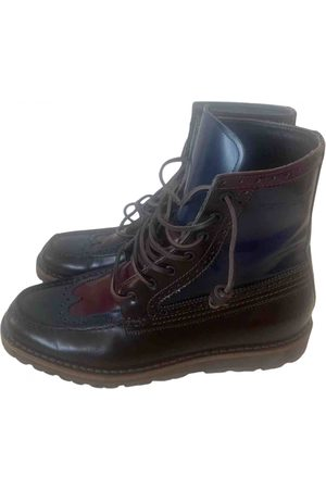 Dsquared2 Navy Leather Boots
