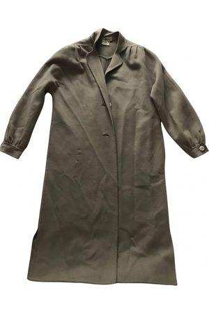 Salvatore Ferragamo Ecru Wool Coats