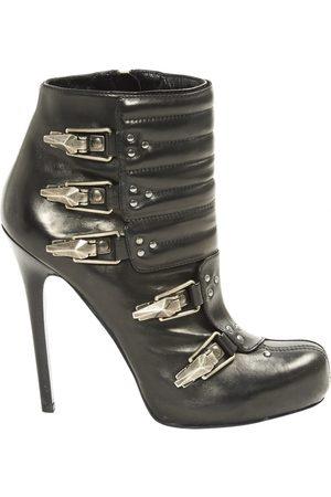 Alexander McQueen Leather biker boots