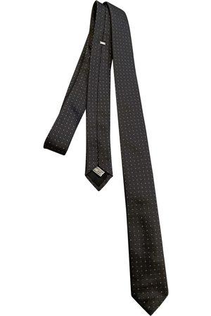 Dior Anthracite Silk Ties