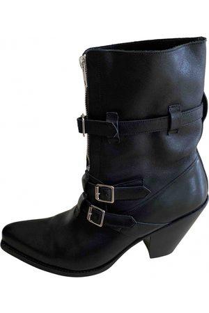 Céline Leather western boots
