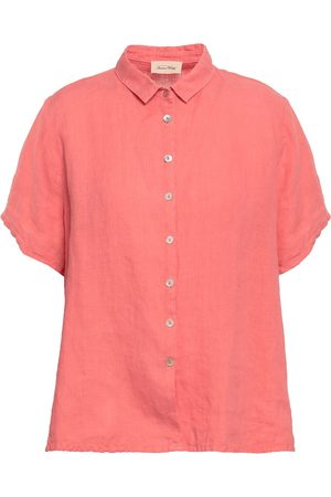 AMERICAN VINTAGE Women Short sleeves - Woman Ficobay Flax Shirt Coral Size S