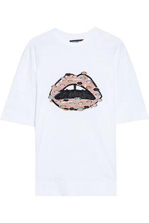 MARKUS LUPFER Woman Karla Sequin-embellished Cotton-jersey T-shirt Size L