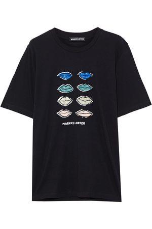 Markus Lupfer Woman Alex Sequin-embellished Cotton-jersey T-shirt Size L