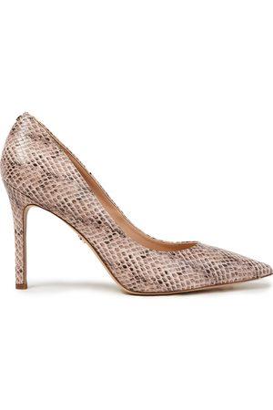 Sam Edelman Women Heeled Pumps - Woman Hazel Snake-effect Leather Pumps Animal Print Size 10