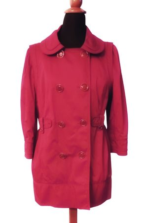 Juicy Couture Burgundy Cotton Trench Coats