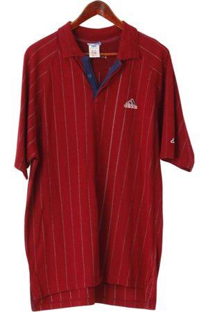 adidas Burgundy Cotton Polo Shirts