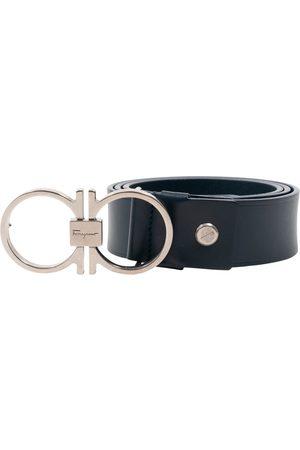 Salvatore Ferragamo Navy Leather Belts