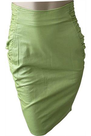 Emanuel Ungaro Women Leather Skirts - Leather mid-length skirt