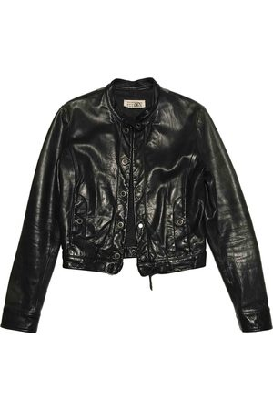 MM6 Leather Leather Jackets