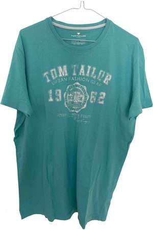 TOM TAILOR Turquoise Cotton T-shirt