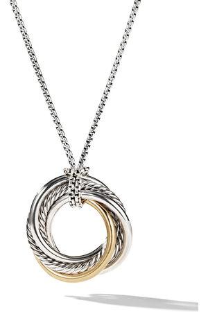 David Yurman Sterling Crossover small pendant