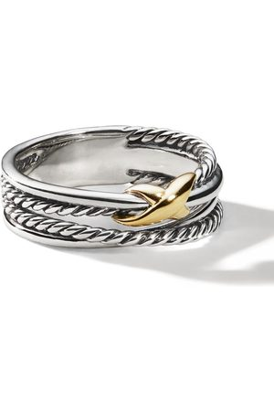 David Yurman Sterling crossover X ring