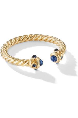 David Yurman 18kt yellow 2.3mm Renaissance sapphire ring