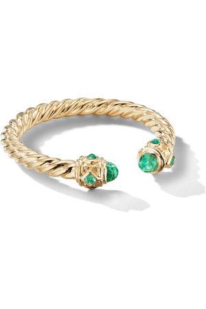 David Yurman 18kt yellow 2.3mm Renaissance emerald ring