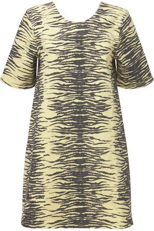 Ganni Print Denim Organic Cotton Mini Dress