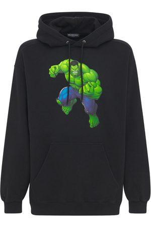 Balenciaga Men Hoodies - Hulk Cotton Sweatshirt Hoodie