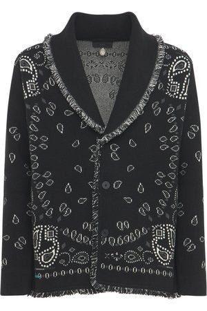 Alanui Bandana Jacquard Cashmere Knit Cardigan