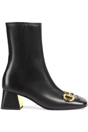 Gucci Women Ankle Boots - Horsebit-detail ankle boots