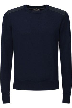 Belstaff Men Sweatshirts - Merino Wool Knit Sweater