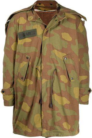 Dsquared2 Men Parkas - Camouflage print parka coat