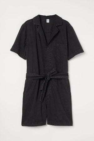 H&M Short Denim Jumpsuit