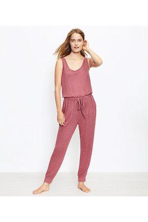 LOFT Women Pajamas - Heathered Pajama Romper