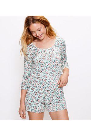 LOFT Floral Henley Pajama Top