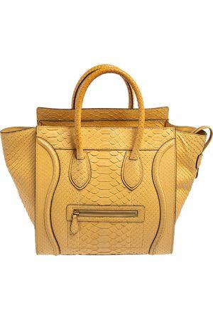 Céline Women Purses - Python Leather Mini Luggage Tote