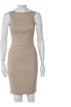 CH Carolina Herrera Wool Sleeveless Sheath Dress S