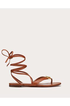 VALENTINO GARAVANI Women Sandals - Escape Calfskin Leather Sandal Women Saddle 100% Pelle Di Vitello - Bos Taurus 35