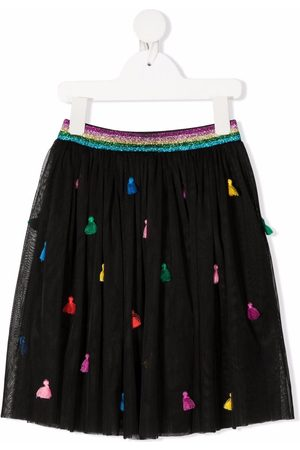 Stella McCartney Girls Skirts - Embroidered-tassels tulle skirt