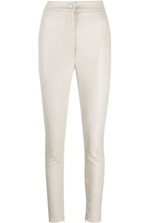 Stella McCartney Faux-leather skinny trousers - Grey