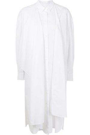 JUUN.J Asymmetric-drape shirt dress