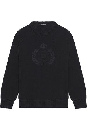 Balenciaga Long sleeves - Embroidered-design long-sleeve jumper