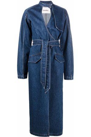 Nanushka Women Jeans - Denim wrap dress